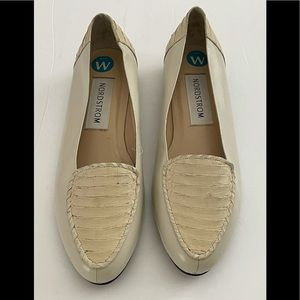Nordstrom Michelle Beige Flat Shoes Sz 10W